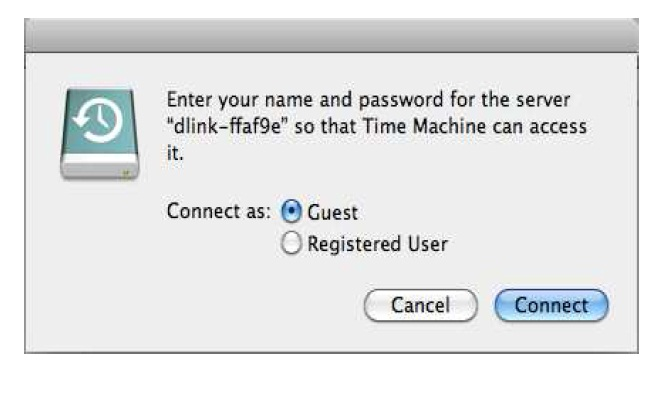 how to configure time machine