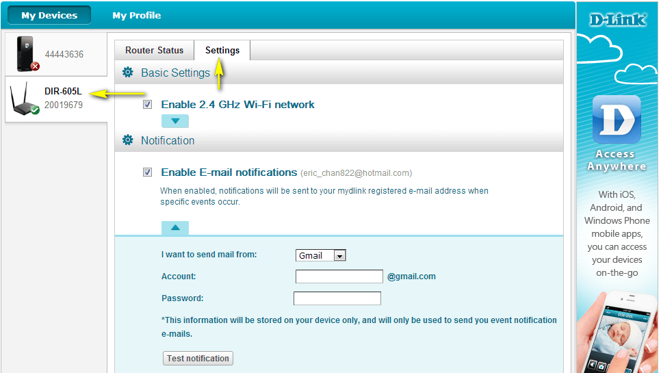 how to change wifi password on dlink router