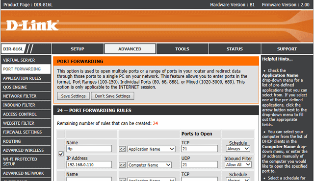 how to find open ports of an ip address