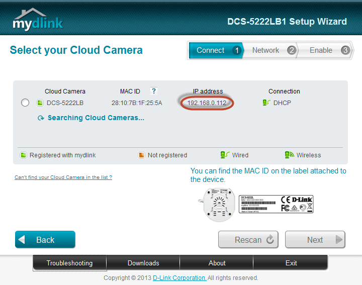 How to: Check IP Address for DCS-5222L Malaysia
