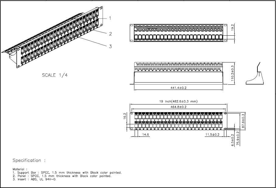 Unloaded Patch Panel D Link Singapore