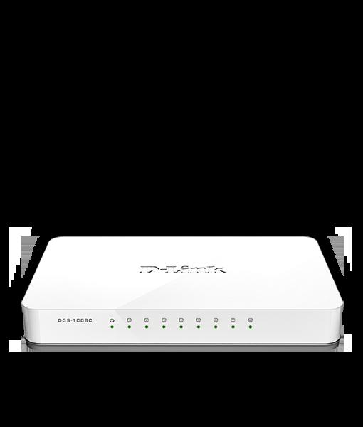 DGS-1008C - 5/8-Port 10/100/1000 Mbps Unmanaged Switch Singapore