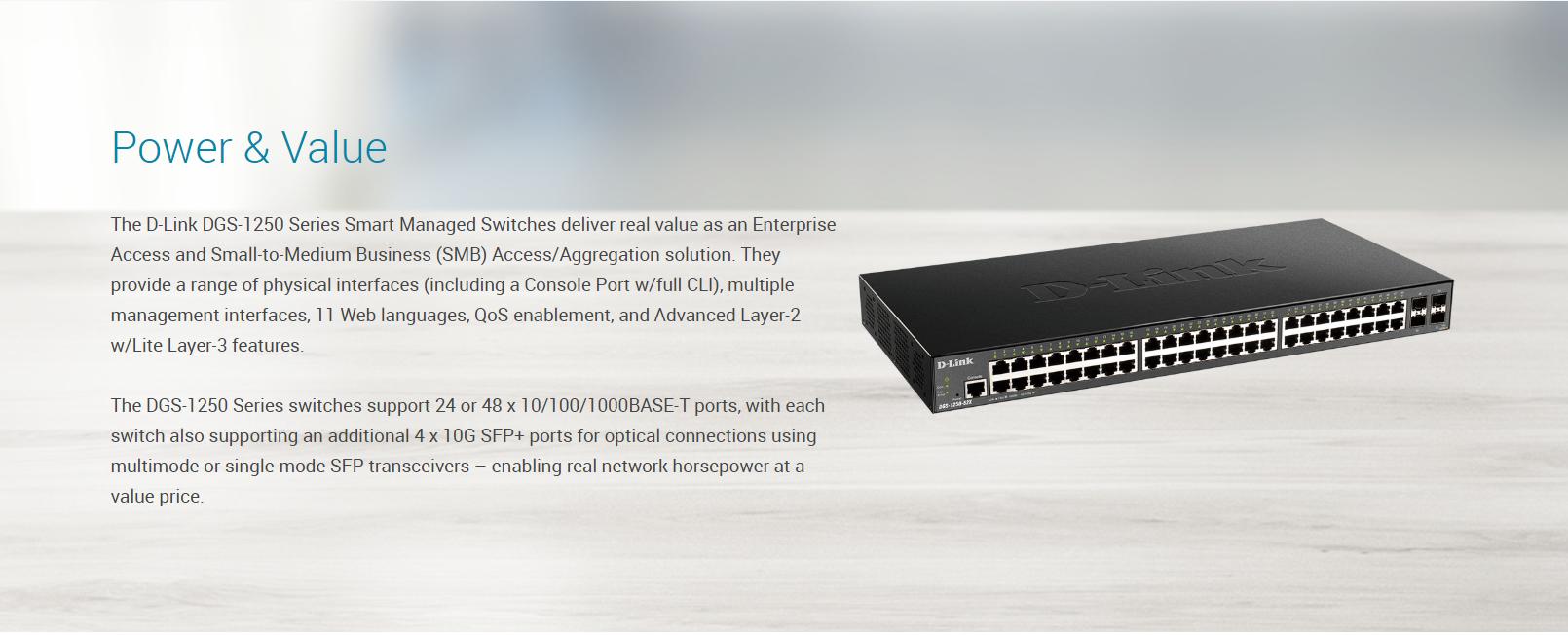 52-Port 10-Gigabit Smart Managed Switch - D-Link Vietnam